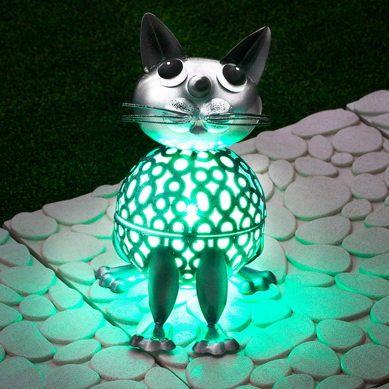 Colour Changing RGB Solar Cat Light