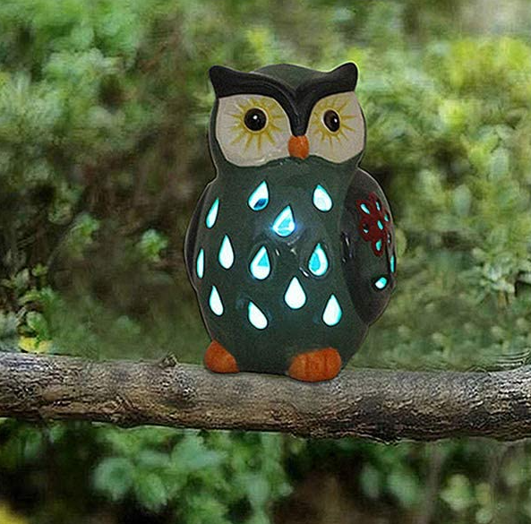 Owl Solar Garden Light