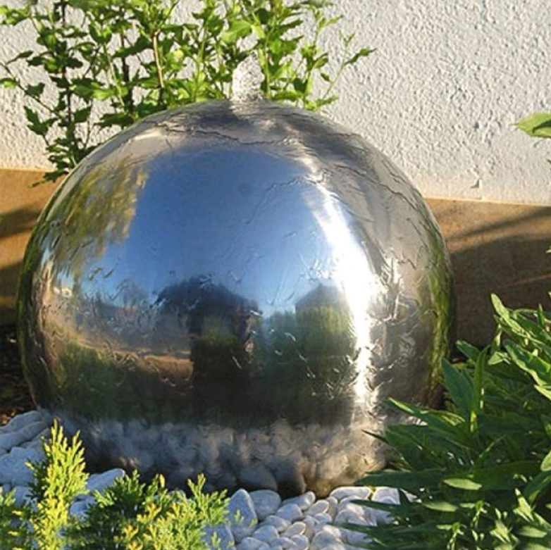 Stainless Steel Sphere Solar Water Feature
