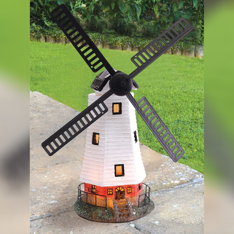 Solar Powered Light up Traditional Windmill