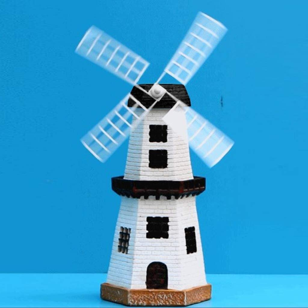 Small Solar Powered light up Garden Windmill