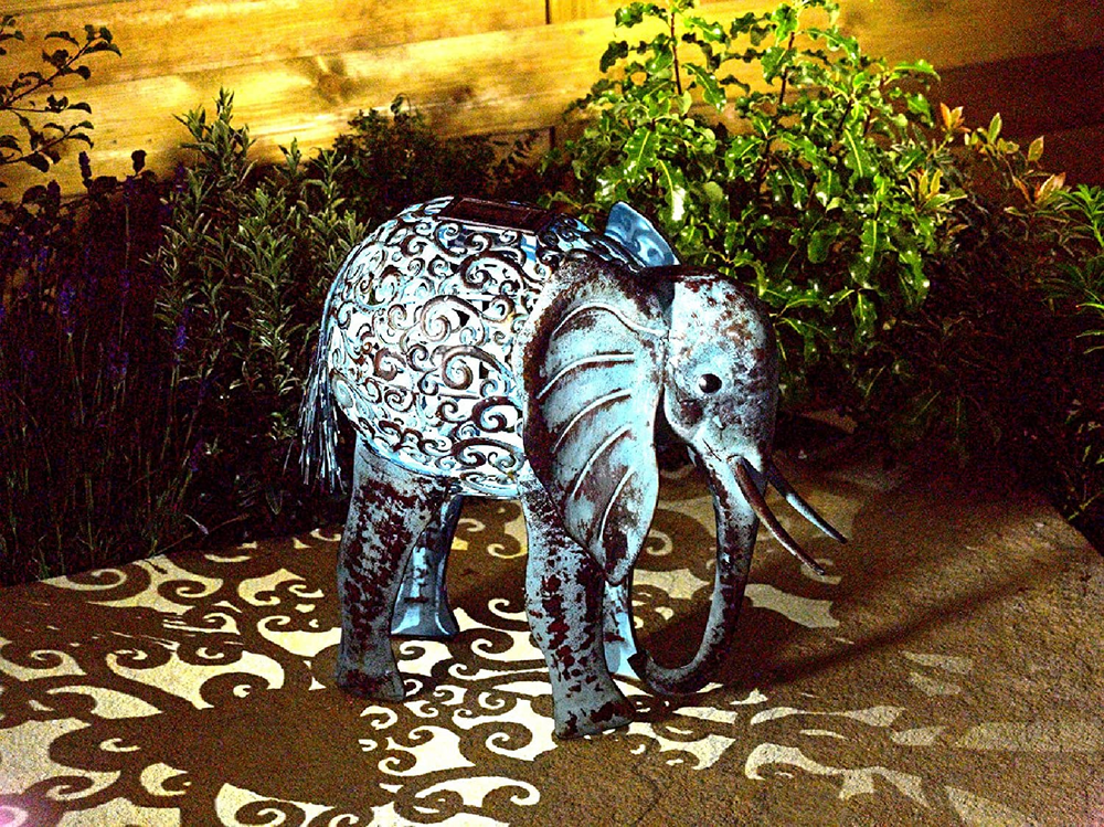 Solar Elephant Garden Light
