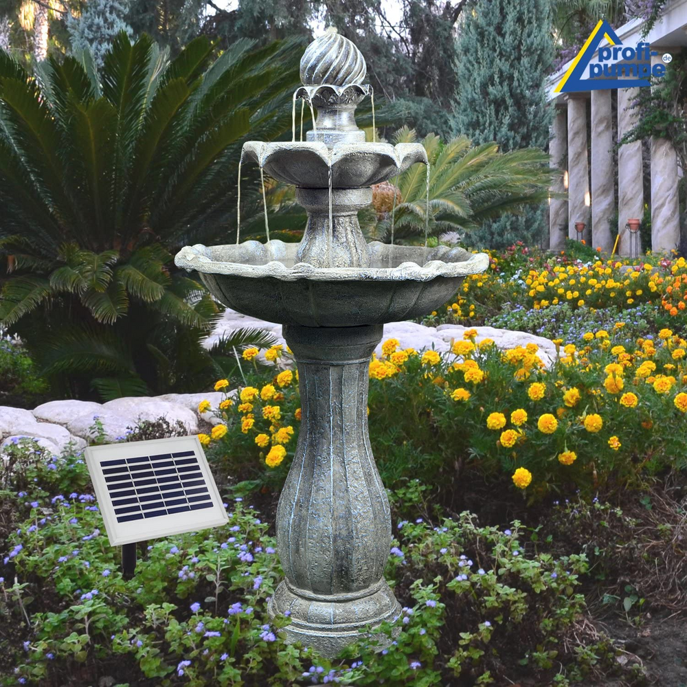 Large Cascading Solar Water Feature