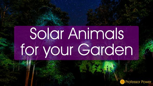 Solar Powered Animals for your Garden